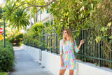 Daphne Dress Fluo Monet