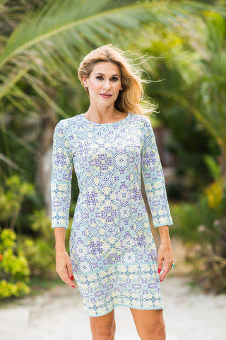 Daphne Dress Pastel Geo