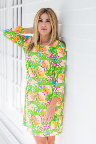 Daphne Dress Fluo Pineapple