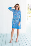 Daphne Dress Turkish Delight Blue
