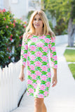 Daphne Dress Fluo Waterlily