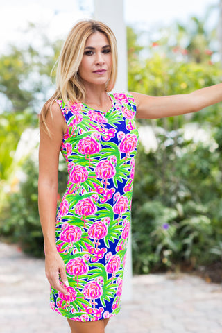 Lily Dress Fluo Flamingos