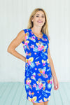 Lily Dress Fluo Hawaiian Blue