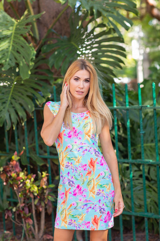 Lily Dress Fluo Monet