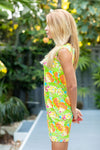 Lily Dress Fluo Pineapples