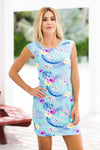 Lily Dress Fluo Tropic Azur