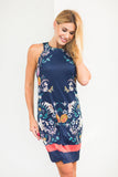 Bridgit Dress Botany Navy