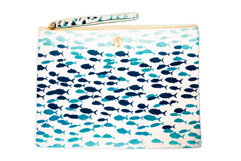 Cosmetic Pouch Fish Run