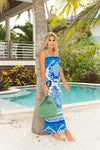Spaghetti Dress Grecian Blue