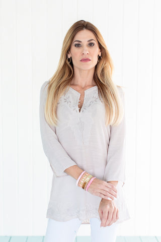 Marquesa Tunic Top Sand