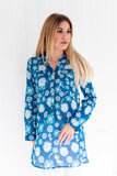 Brittany Tunic Top Deep Sea