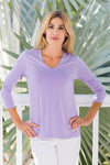 V-Neck Top Lavender