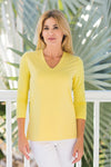 V-Neck Top Lemon