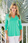V-Neck Top Mint