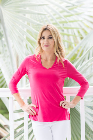 V-Neck Top Old Pink