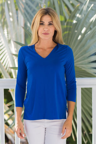 V-Neck Top Royal
