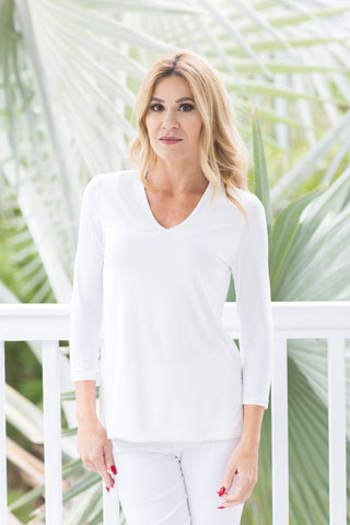 V-Neck Top White