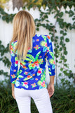 V-Neck Fluo Hawaiian Blue