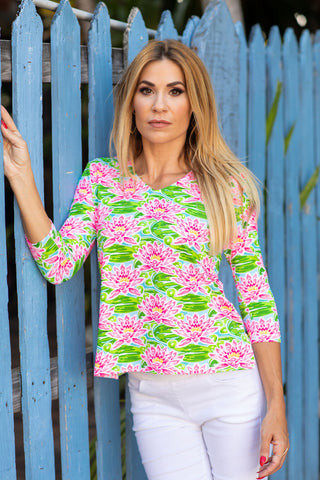 V-Neck Fluo Waterlily