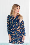 Naples Tunic Fountainebleu Navy