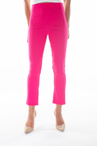 Jackie Pant Solid Fuchsia