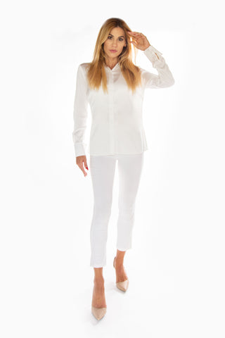 Jackie Pant Solid White