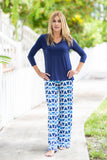 Boulevard Pants Blue Triangles