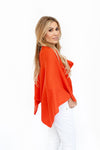 Cashmere Poncho Burned Orange