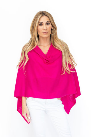 Cashmere Poncho Hot Pink