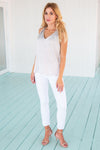 Ankle Pant White