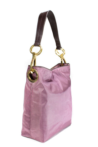 Nylon Bucket Bag Cherry