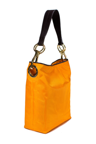 Nylon Bucket Bag Clementine