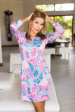 Daphne Dress Catalina Fuchsia