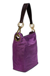 Nylon Bucket Bag Eggplant