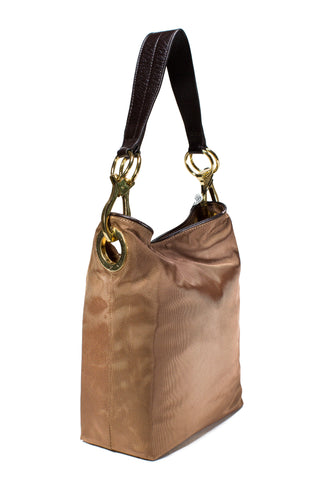 Nylon Bucket Bag Espresso