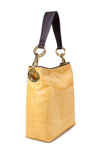 Nylon Bucket Bag Gold