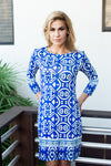 Daphne Dress Etnic Royal
