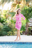 Donna Dress Ikat Pink