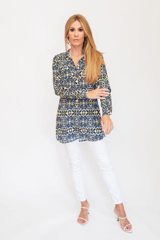 Brittany Tunic Top Mayan Yellow