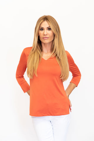 V-Neck Top Copper