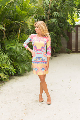 Daphne Dress Grecian Multi