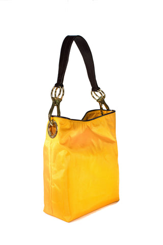 Nylon Bucket Bag Sunflower