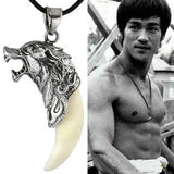 USA Coolest Men's Wolf Tooth Necklace Titanium Steel Domineering Pendant Jewelry