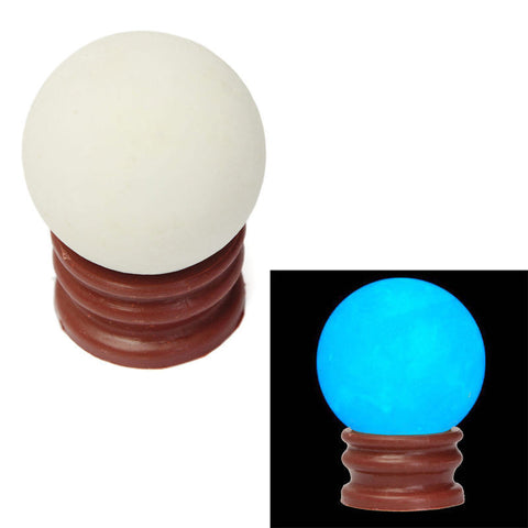 35MM Blue Luminous Quartz Sphere Crystal Ball Glow In The Dark Stone With Base