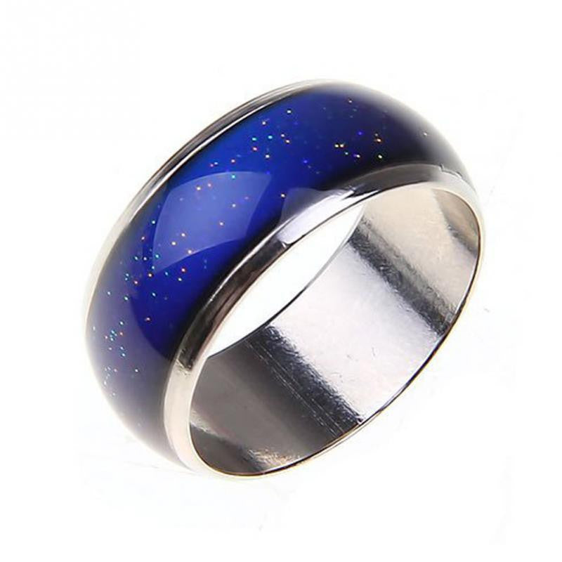 New Moon Shape Color Change Mood Ring Emotion Feeling Changeable Band