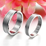 USA 2PCS Stainless Steel Couple Ring Promise Wedding Engagement Rings Bands
