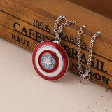 USA New Marvel Comics Captain America Shield Fashion Pendant Men Necklace