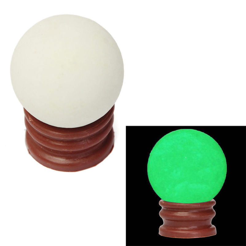 35MM Green Luminous Quartz Sphere Crystal Ball Glow In The Dark Stone With Base