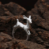 USA Women Adjustable Gold or Silver Bambi Deer Cute Animal Jewelry Open Ring