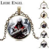 USA Assassin's Creed Necklace pendant Bronze Chain Men Women Games Movies Jewelry